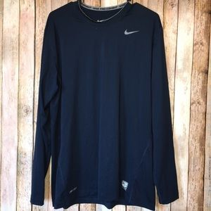 Nike Fitted Dri Fit Pro Combat Long Sleeve Shirt